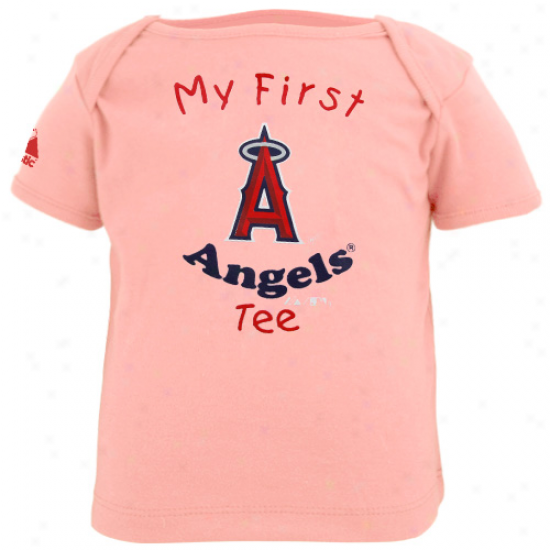 Majestic Los Angeles Angels Of Anaheim Infant Girls Pink My First Tee T-shirt