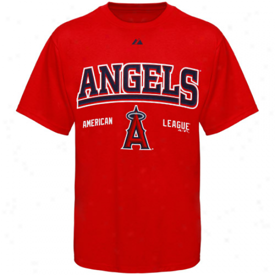 Majestic Los Angeles Angels Of Anaheim Red Built Legacy T-shirt