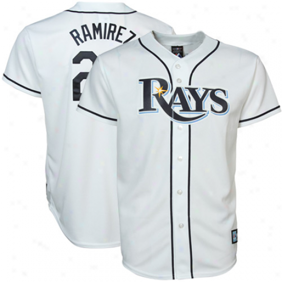 Majestic Manny Ramirez Tampa Bay Rays Young men Replica Jersey - White