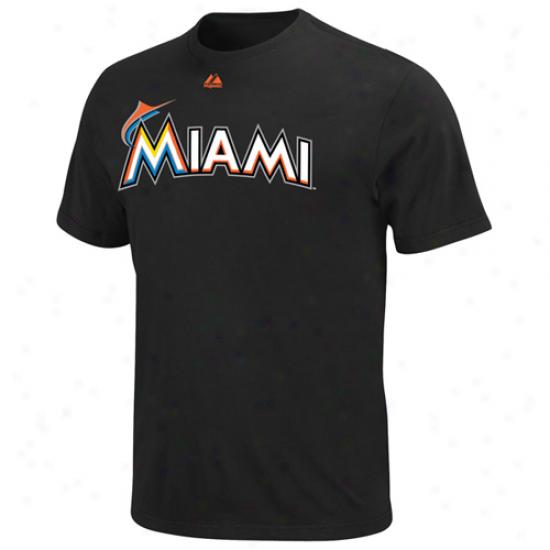 Splendid Miami Marlins Official Wordmark T-shirt - Black