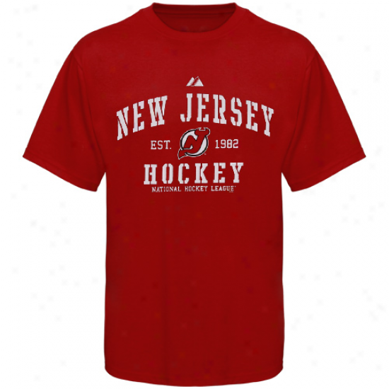 Majestic New Jersey Devils Red Ice Classic T-shirt