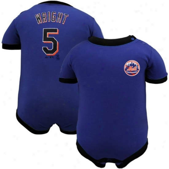 Majestic New York Mets #5 David Wright Infant Royal Blue Player Creeper