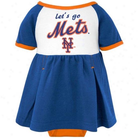 Majestic New York Mets Infant Girls Tru-color Creeper Adjust