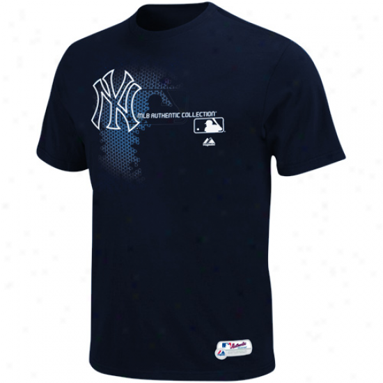Majestic New York Yankes Authentic Collection Youth Change Up T-shirt - Navy Blue
