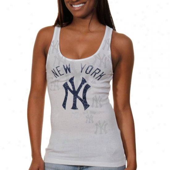 Splendid New York Yankees Ladies Defining Tank Top - White