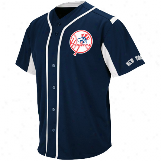 Majestic New York Yankees Wind-up Jersey - Ships Blue
