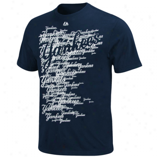 Majestic New York Yqnkees Youth Shock Factor T-shirt - Navy Blue