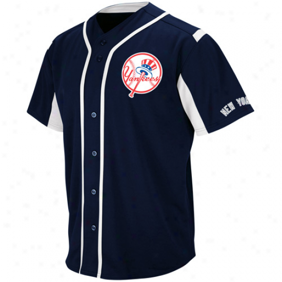 Majestic New York Yankees Youth Wind-up Jersey - Navy Blue