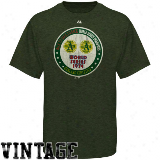 Majestic Oakland Athletics Training Up Hdthered T-shirt - Green