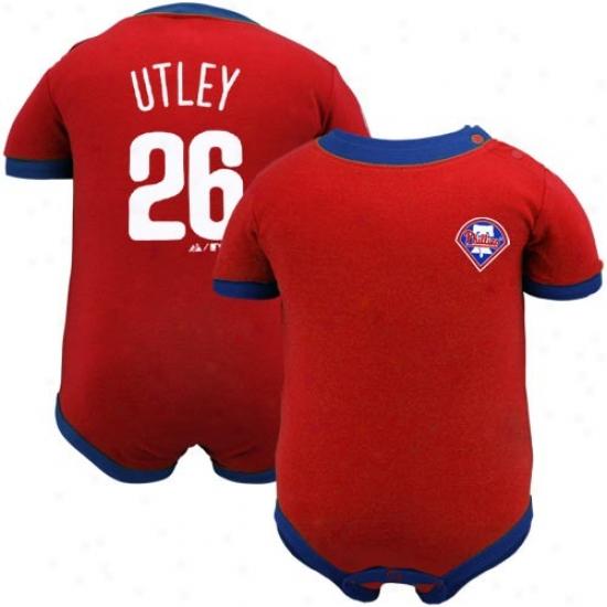 Majextic Philadelphia Philkies #26 Chase Utley Infant Red Player Creeper