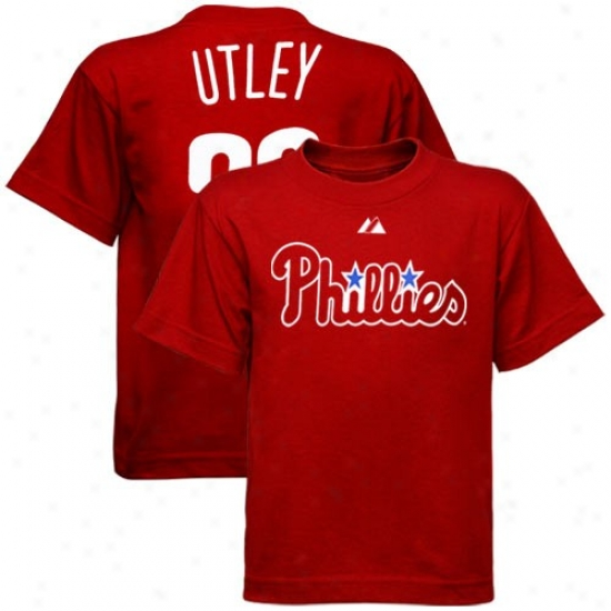 Majestic Philadelphia Phillies #26 Chase Utley Tooddler Red Player T-shirt