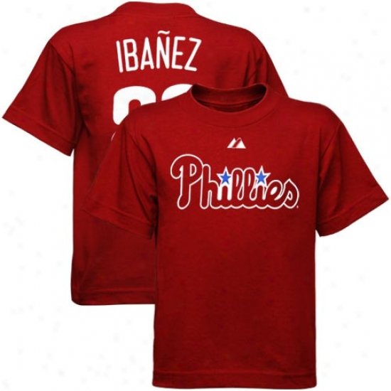 Majestic Piladelphia Phillies #29 Raul Ibanez Toddler Red Player T-shirt