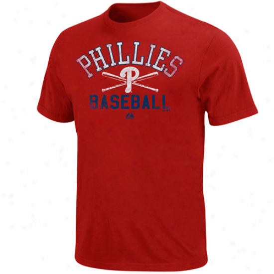 Majestic Philadelphia Phillies Athletic City Modern Fit T-shirt - Red