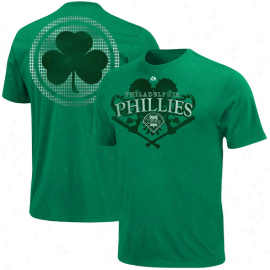 Majestic Piladelphia Phillies Celtic Overtake T-shirt - Green