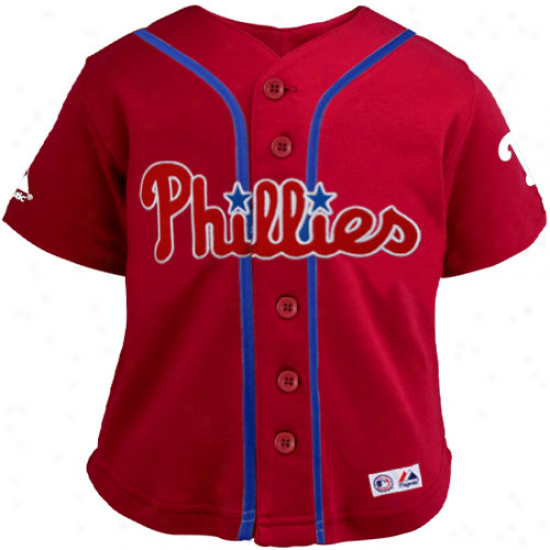 Elevated Philadelphia Phillies Infang Closehole Mesh Jersey - Red