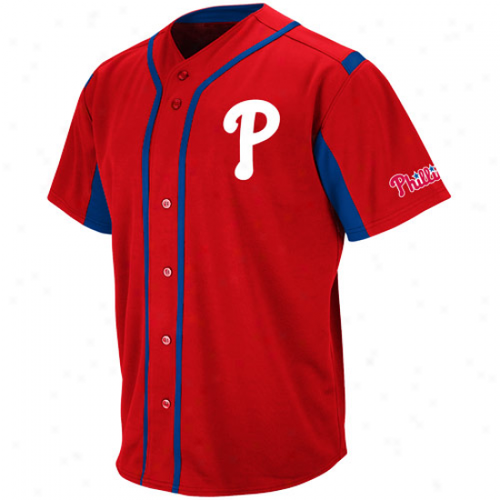 Majestic Philadelphia Phillies Youth Wind-up Jersey - Red