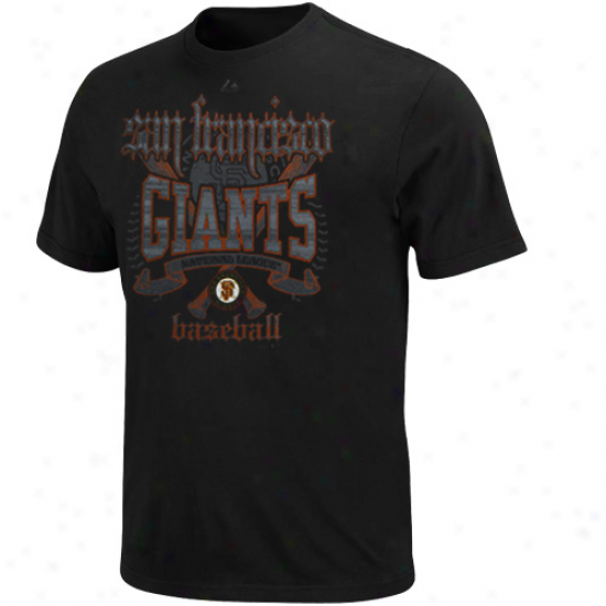 Majestic San Francisco Giants Youth Fueled By Pride T-shirt - Black