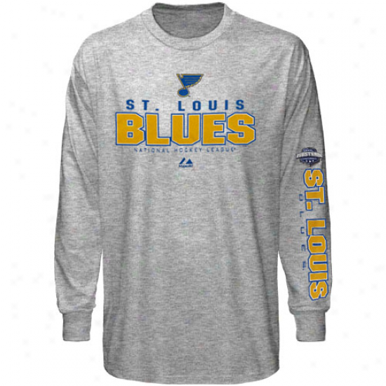 Splendid St. Louis Blues Yotuh Hockey Practice Long Sleeve T-shirt - Ash
