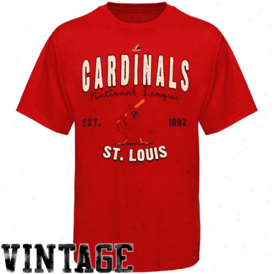 Majestic St. Louis Cardinals Cooperstown Barney T-shirt - Cardinal Red