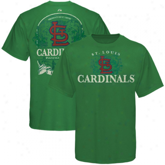 Majestic St. Louis Cardinals Kelly Green Luck Label T-shirt