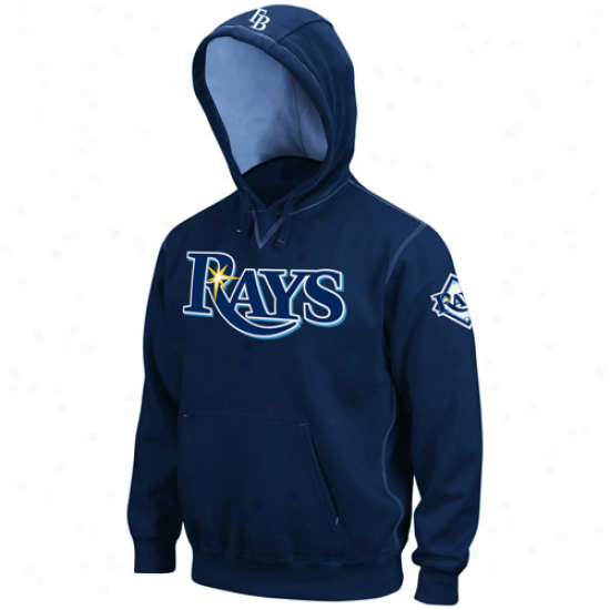 Majestic Tampa Bay Rays Navy Blue Golden Child Pullover Hoody Sweathirt