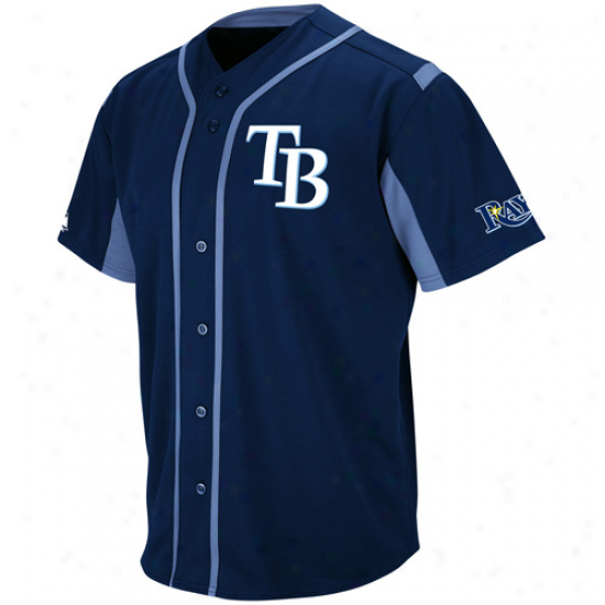 Majestic Tampa Bay Rays Wind-up Jersey - Navy Blue