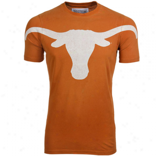 Majestic Texas Longhorns Big Hitter Premium T-shirt - Burnt Orange