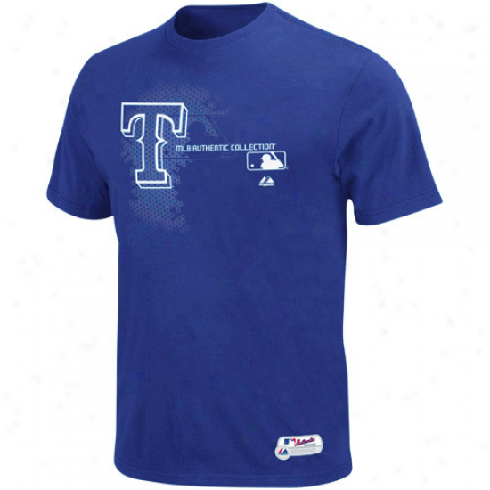 Majestic Texas Rangers Authenntic Collection Change Up T-shirt - Magnificent Blue