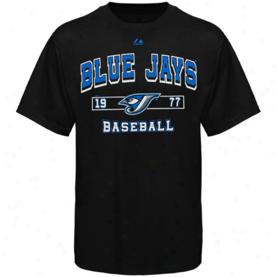 Majestic Torojto Blue Jays Past Time Original T-shirt - Black
