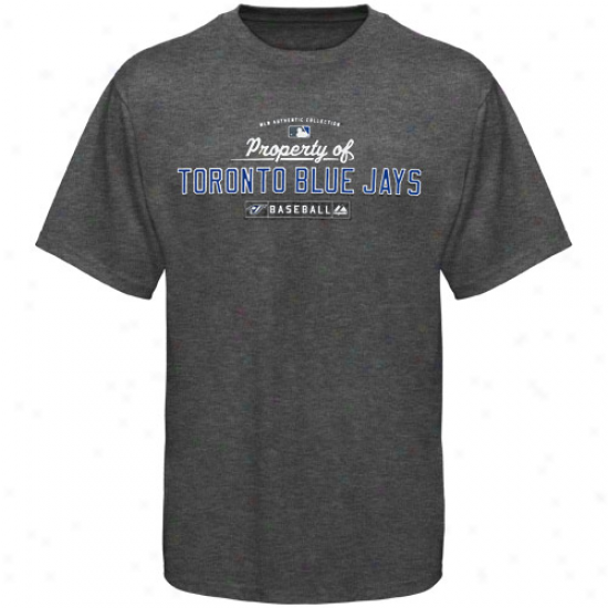 Majestic Toronto Blue Jays Youth Charcoal Heather Property Of T-shirt