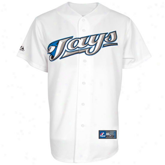 Majestic Toronto Blue Jays Youth Replica Jersey - White