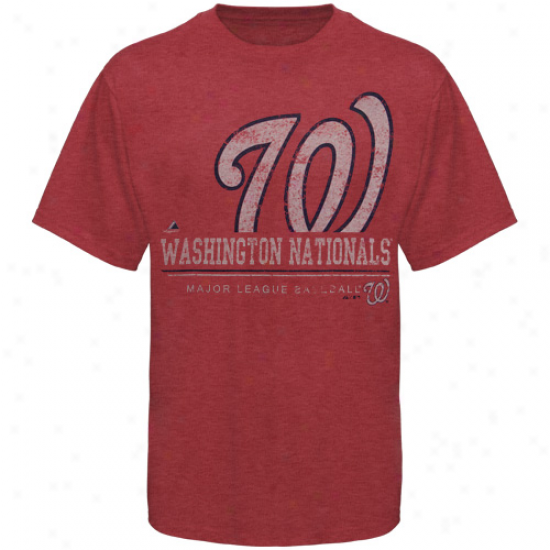 Majestic Washington Nationals Submariner Heathered T-shirt - Red