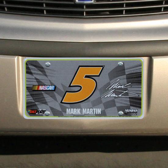 Mark Martin Checkered Flag License Plate
