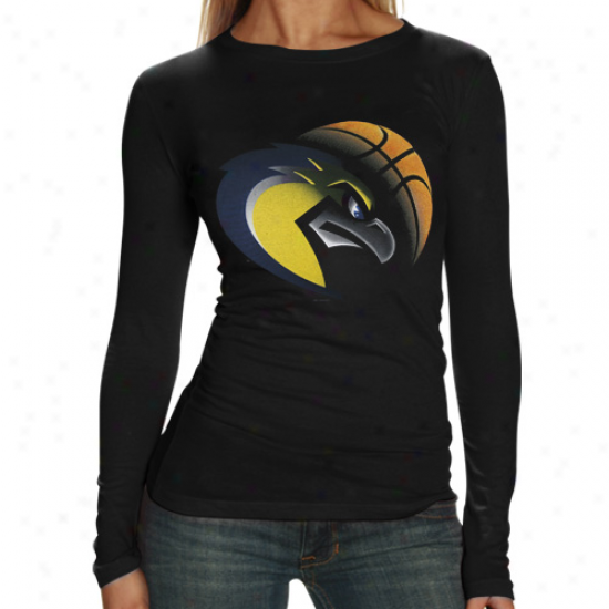 Marquette Golden Eagles Ladies Black Blackout Long Sleeve T-shirt