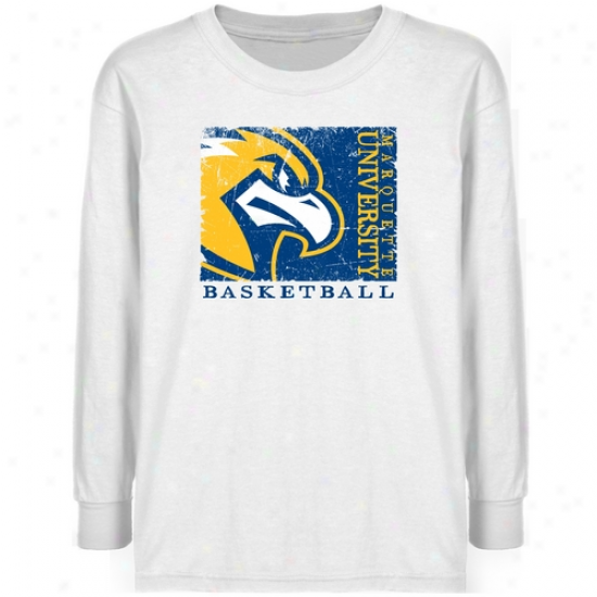Marquette Golden Eagles Youth White Sport Stam T-shirt
