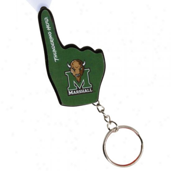 Marshall Thundring Herd Number One Fan Flashpiggt Keychain