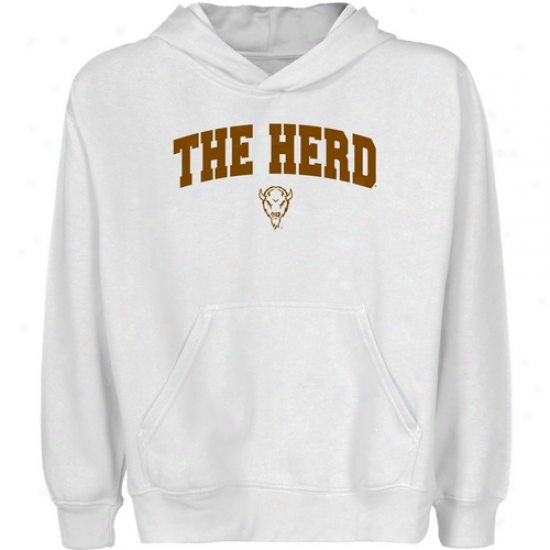 Marshall Thunderung Herd Youth White Logo Arch Pullover Hoody