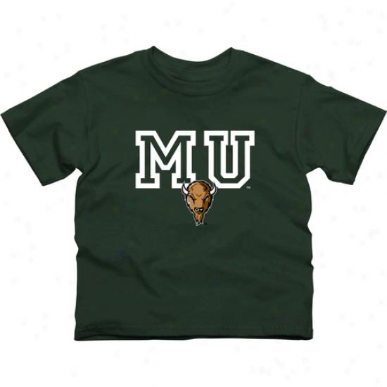 Marshall Thundering Herd Yluth Wordmark Logo T-shirt - Green