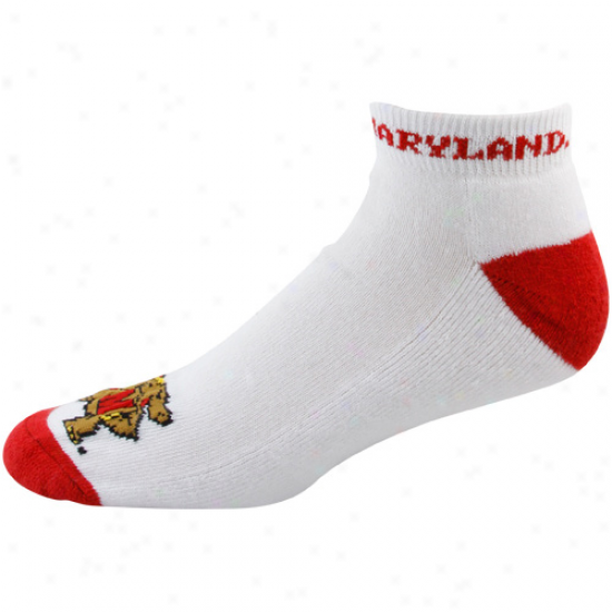 Maryland Terrapins White-red Big Logo Ankle Socks
