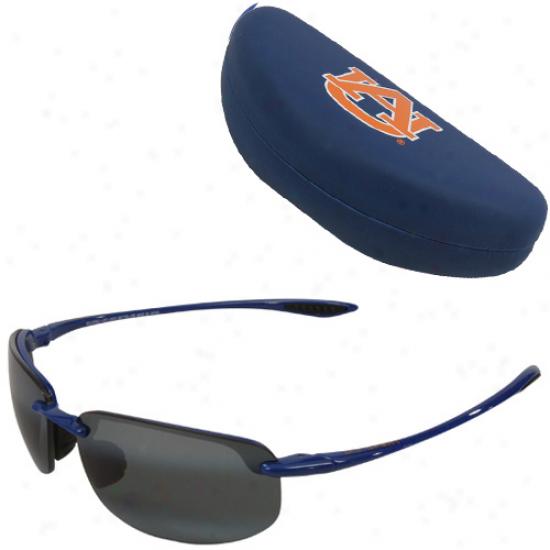 Maui Jim Nut-brown Tigers Naavy Blue-gray Ho'okipa Sunglasses