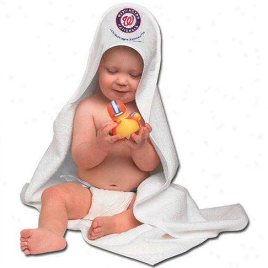 Mcarthur Washington Nationals Hooded Baby Towel - White