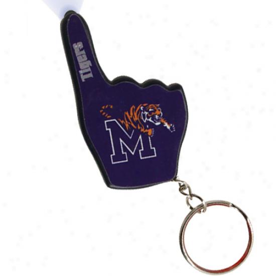 Memphis Tigers Number Ohe Fan Flashlight Keychain