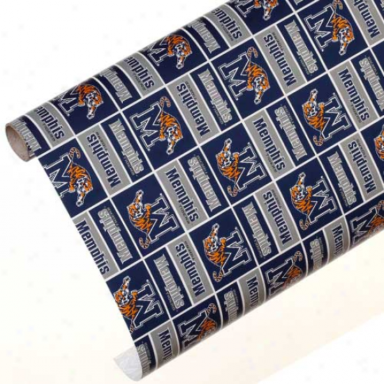 Memphis Tigers Spirit Block Wrapping Paper