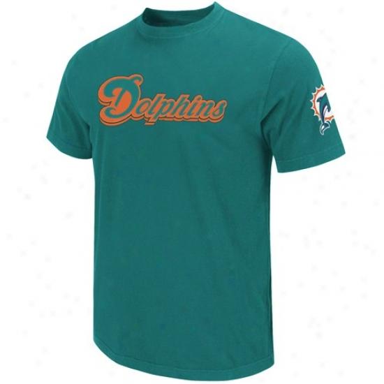 Miami Dolphins Aqua Zone Blitz Applique Premium T-shirt