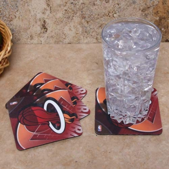 Miami Heat 4-pack Sublimated Logo Neoprene Coaster Set