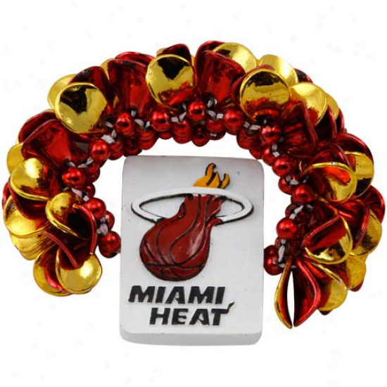 Miami Heat Game Day Beads Bracelet
