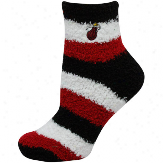 Miami Heat Ladies Tri-color Fuzzy Sleep Socks