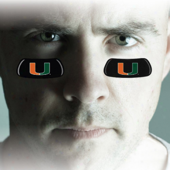 Miami Hurricanes Team Logo Eyeeblack Strips