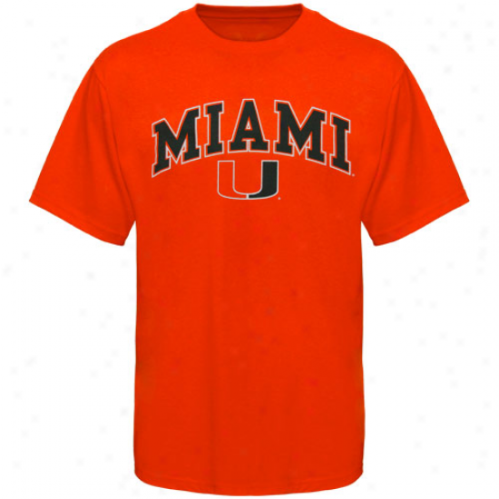 Miami Hurricanes Youth Arched University T-shirt - Orange