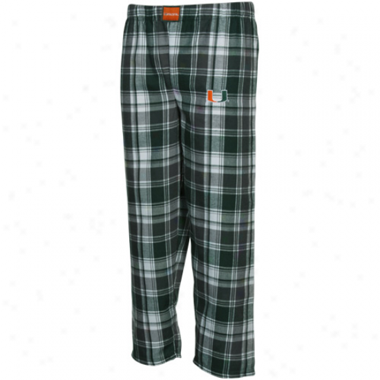 Mimai Hurricanes Youth Green-charcoal Plaid Legend Flannel Pants